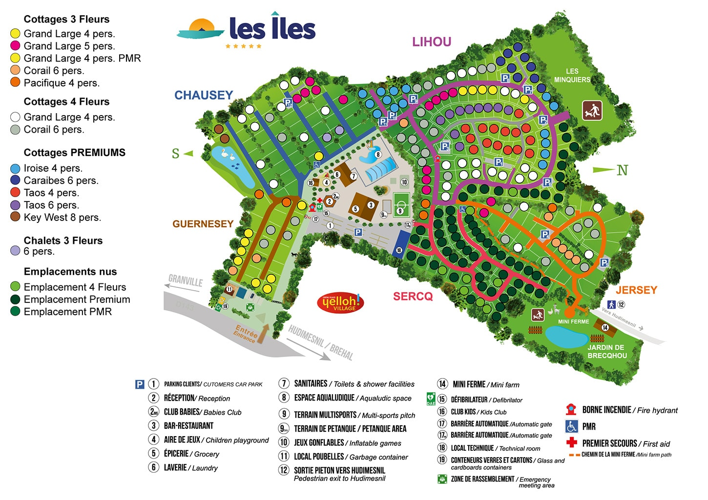 Plan of camping Les Iles 2021