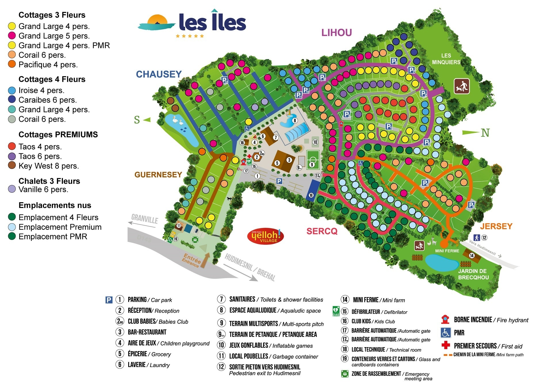 Camping les Iles map